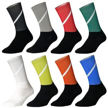 New Bike Team Aero Socks Seamless Anti Slip Cycling Socks Road Bicycle Socks