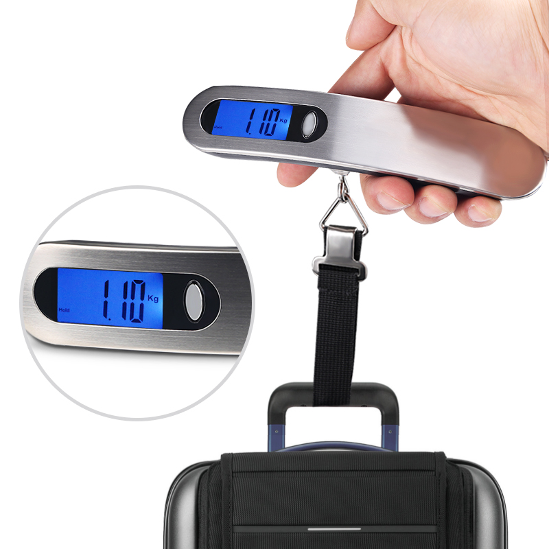 Digital Luggage Scale 50kg x 10g Portable Electronic Scale Hanging Scale For Travel Suitcase Luggage Weighing Balance Electronic image