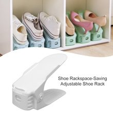 Shoe Rack Organizer Space-Saving Adjustable Plastic