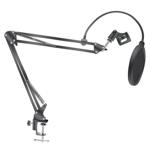 Image 4 - Microphone Scissor Arm Stand Bm800 Holder Tripod Microphone Stand F2 With A Spider Cantilever Bracket Universal Shock Mount