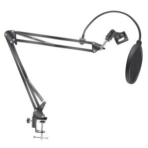 Image 4 - Mikrofon nożycowy stojak z ramieniem Bm800 uchwyt statyw stojak mikrofonowy F2 z pająkiem wspornik wspornikowy uniwersalny uchwyt amortyzujący