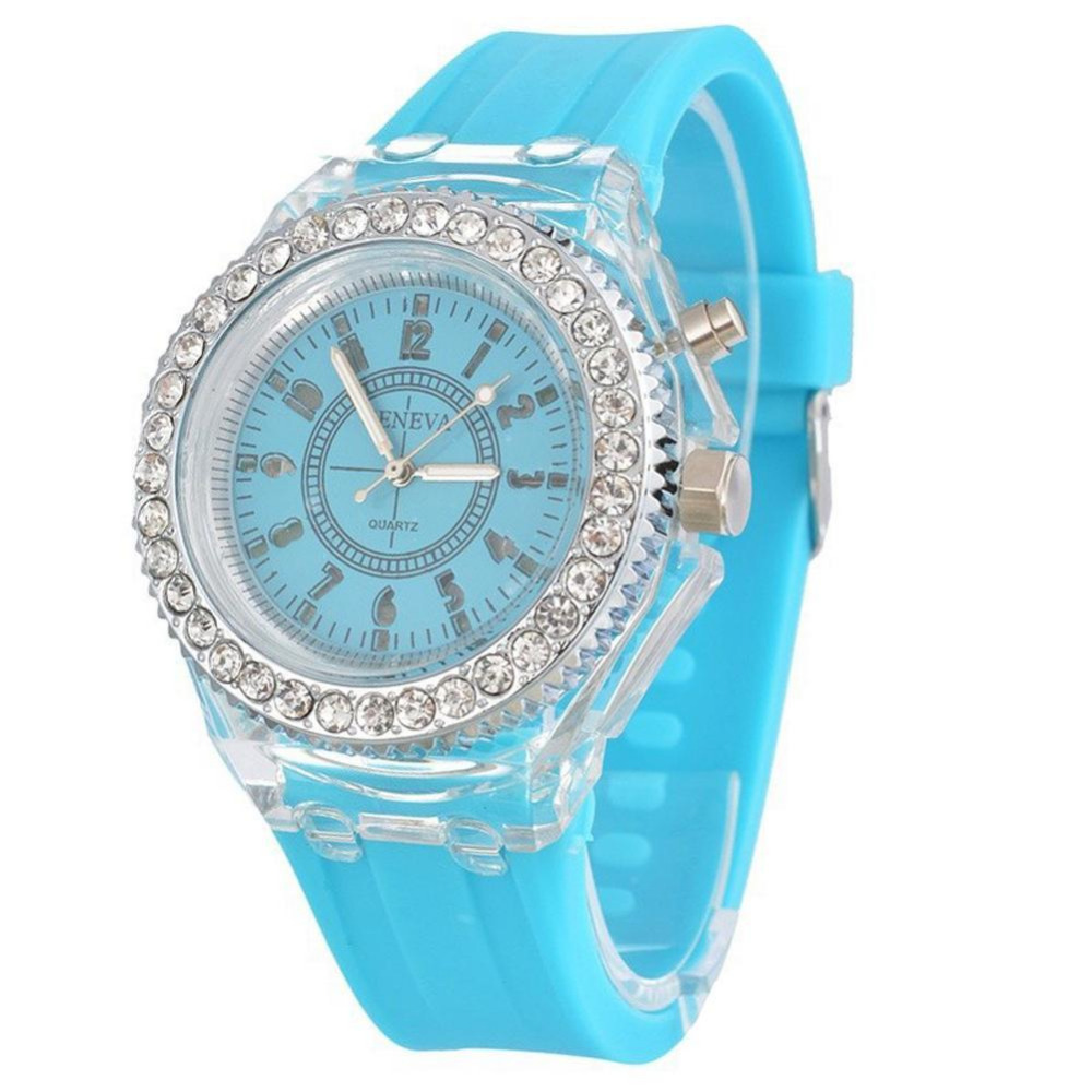 Led Flash Luminous Watch Personality Trends Students Lovers Jellies Watches 9 Color Light WristWatch