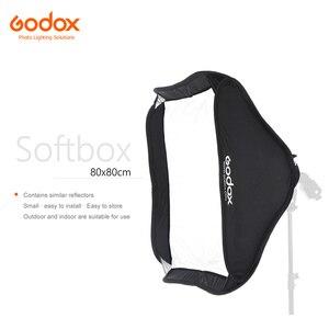 Софтбокс Godox 80x80 см, отражатель для вспышки Speedlite, светильник для профессиональной фотостудии, вспышка для камеры Bowens Elinchrom