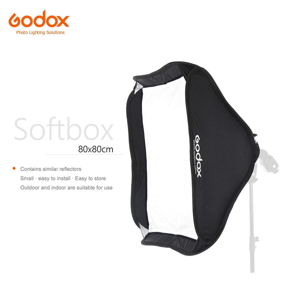 Софтбокс Godox 80x80 см рассеиватель Отражатель для вспышки Speedlite светильник ная фотостудия камера вспышка подходит для Bowens Elinchrom Софтбоксы    АлиЭкспресс
