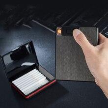 Cigarette-Lighter Can-Hold-Twenty Usb-Charging Aluminum-Alloy