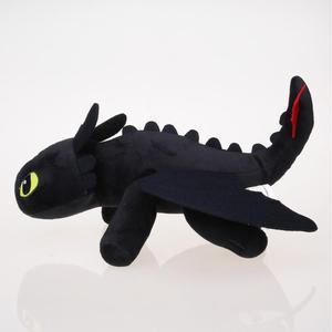 Image 3 - 25cm Nacht Fury Plüsch Spielzeug Wie Trainieren sie Ihre Dragon Zahnlos Füllte Spielzeug Weiche Baumwolle Tier Plüsch Puppen für kinder Kinder Geschenke