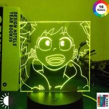 Lámpara de Anime de My Hero Academia, Izuku Midoriya para decoración de dormitorio, regalo de cumpleaños, Gadget de Manga, luz 3d de My Hero Academia Izuku