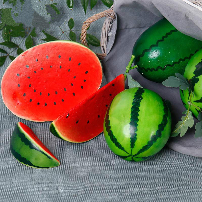 1 Pcs Artificial Creative Fake Fruit Simulation Watermelon Ornament Craft Food Photography Props Children Early Education Gifts
