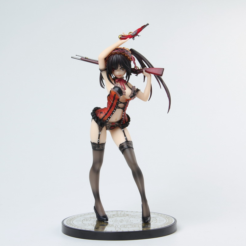 New arrival Quality Edition Date A Live Kurumi Tokisaki Lingerie Ver PVC action Figure <font><b>Sexy</b></font> Can Cast off Figure soft with box image