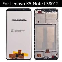 ЖК-дисплей и сенсорный экран в сборе для Lenovo K5 NOTE L38012, сменный ЖК-экран для телефона Lenovo K5NOTE L38012