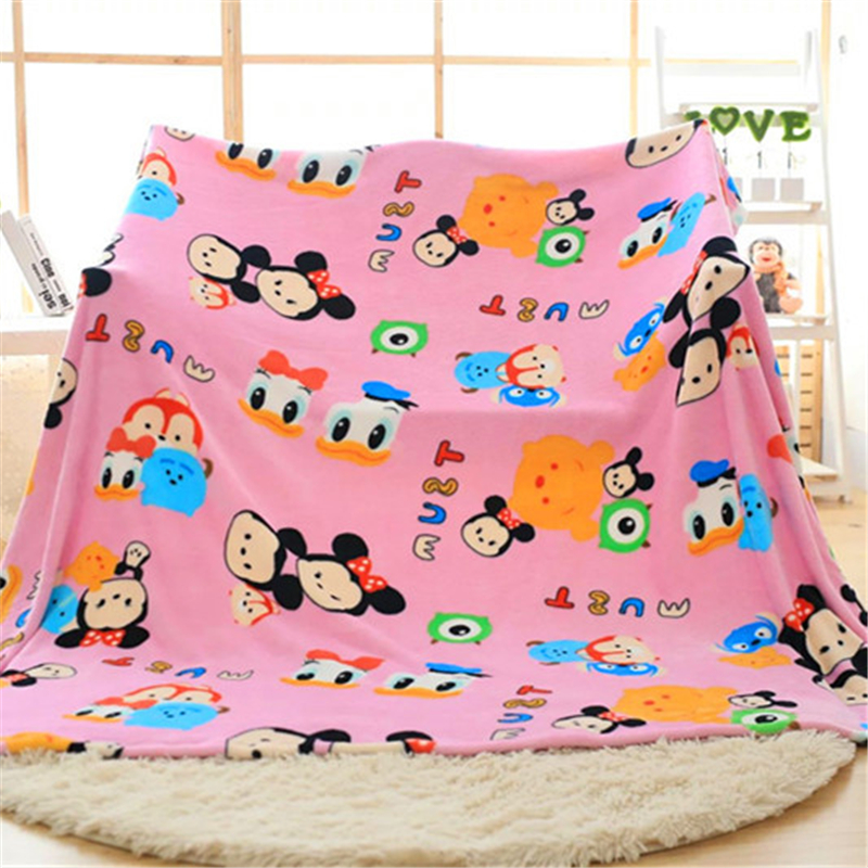 100X150 Summer Blanket Thin Quilt Mickey Mouse Soft Cute Cartoon For Children On Bed Sofa Couch Children Girl Woolen Gift