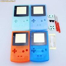 ChengHaoRan 1 ชุดสีฟ้าส่องสว่างสีเขียวเต็มรูปแบบสำหรับ Nintendo Gameboy Color GBC เปลี่ยนอะไหล่ชุดซ่อม