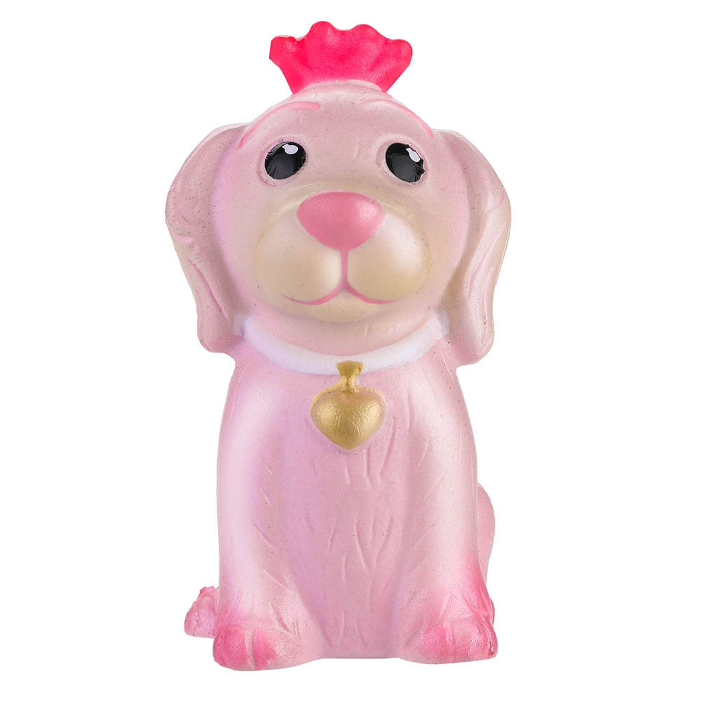 Squeeze Stress Reliever Pink Pet Dog Slow Rising Toys Gifts Decompression Slow Rebound Toy Mood Pressure Relief Toy #A
