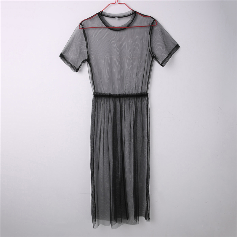 H5cc894b4217846948cfc774a8f166172z Women See Through Mesh Long Blouse Cover Up Shirt Dress Sheer Beach Cover Up Tulle Lace Transparent Streetwear Blusas Tee