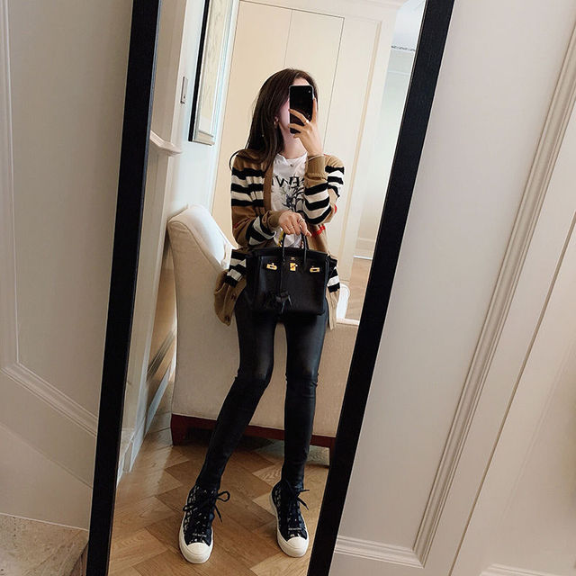 Knitted cardigan coat women's spring 2021 new loose and versatile sweater women's long sleeve sweater thin 3