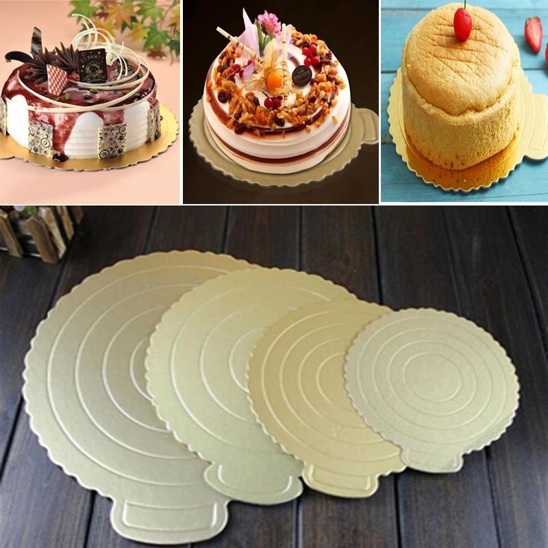 100 St/ück//Set Gold Mini Cake Boards Kuchenb/öden Mousse Cake Board Dessert Displays Tablett f/ür Hochzeit Geburtstag rund