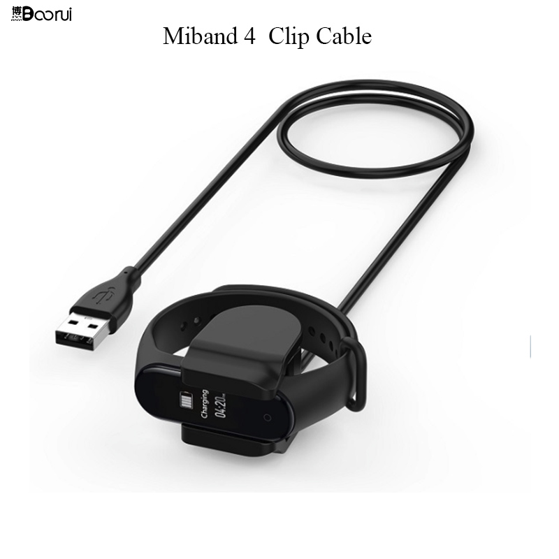 BOORUI Mi Band 4 Charger USB Charging Clip Cable For Xiaomi Mi Band 4 Usb Charging Line Replacement Fast Charger  For Xiaomi Mi4