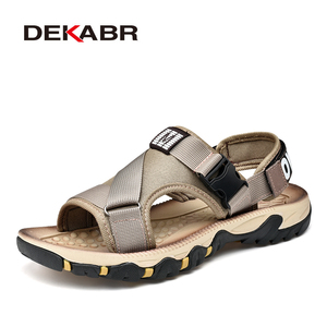 Image 1 - DEKABR Spring Summer Men Sandals Top Quality Casual Shoes Man Quality Design Outdoor Beach Sandals Roman Style Water Sneakers