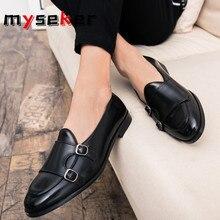 Slip-on Shoes Heels Casual Leather Footwear 2020 Man Summer