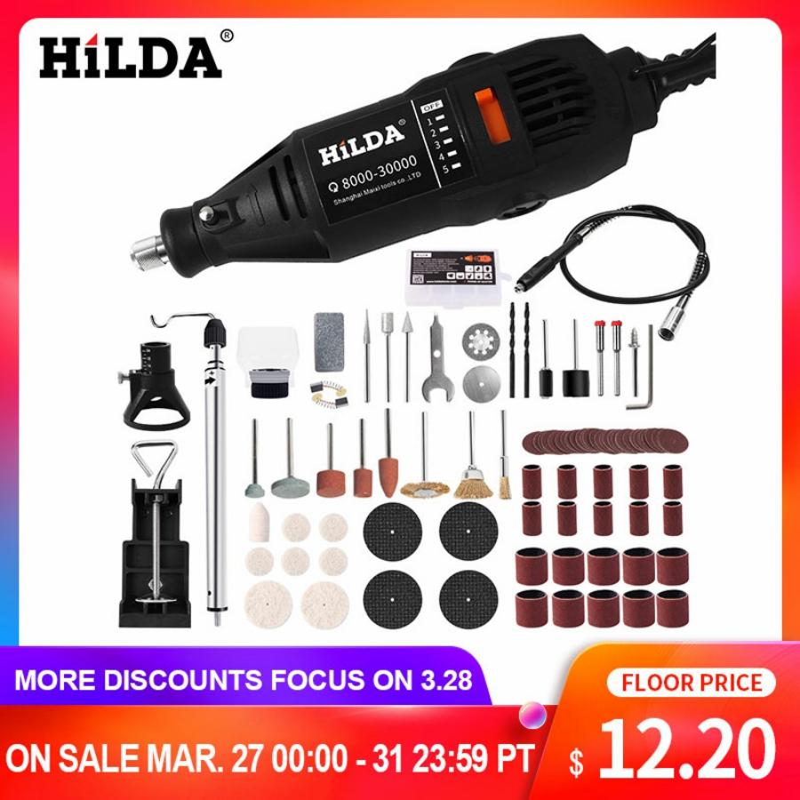 HILDA Electric Power Drills with Copper Motor for Wax Polishing and Seal Engraving 1