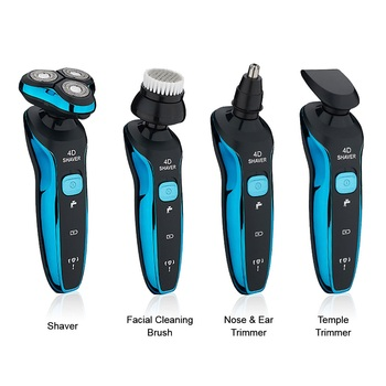 Electric Shavers Shaving Machine 4 in 1 Beard Razors 4D 3 Blades Nose Hair Trimmer Clipper Rechargeable for Men's Face USB Sex - discount item  30% OFF Personal Care Appliances