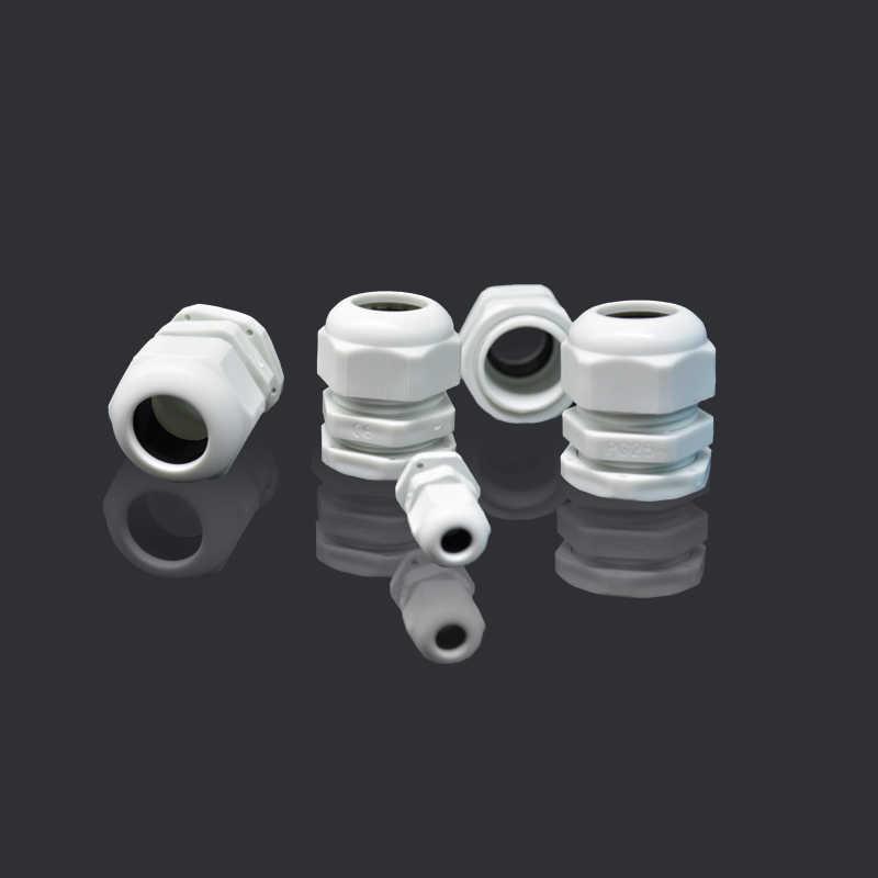 10 Stks/partij IP68 M12x1.5 Voor 3-6.5 Mm M16x1.5 M20x1.5 M22 Draad Kabel Ce Wit/Zwart Waterdichte Nylon plastic Cable Gland Connector