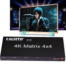 HDMI 2,0 4K 60Hz HDMI матрица 4x4 переключатель разделитель 4 в 4 переключатель Сплит 1080P настоящая матрица аудио видео конвертер w/ RS232 EDID