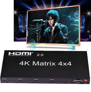Image 1 - HDMI 2.0 4K 60Hz HDMI Matrix 4x4 Switcher Splitter 4 In 4 Out Switch Split 1080P True Matrix Audio Video Converter w/ RS232 EDID