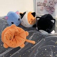 Двусторонняя флип кошка плюшевая мягкая игрушка животное домашние