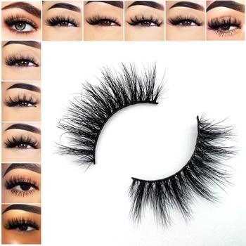 15mm 3D Mink Lashes Wholesale Bulk Natural Think Luxury Fluffy Eyelashes