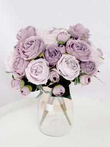 Peony Rose Artificial-Flowers Wedding-Decoration 1-Bouquet Silk DIY Living-Room Garden
