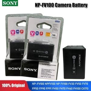 Sony Original 6.8v NP-FV100 NPFV100 NP FV100 3700mah Lithium Rechargeable Battery FV30 FV50 FV70 FP50 FP90 FP91 FH50 Camera Cell