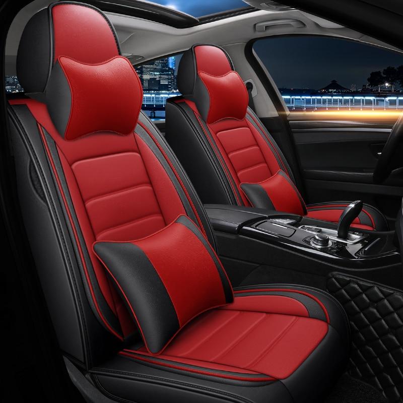 Universal Red Eco-Leather Full Set Car Seat Covers Skoda Rapid Skoda Octavia