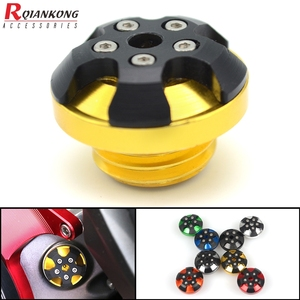 Motorcycle Engine Oil Filter Cup Reservoir Plug Cover Screw For Ducati PANIGALE 1199/899 PANIGALE 1299 2015-17 STREETFIGHTER 848