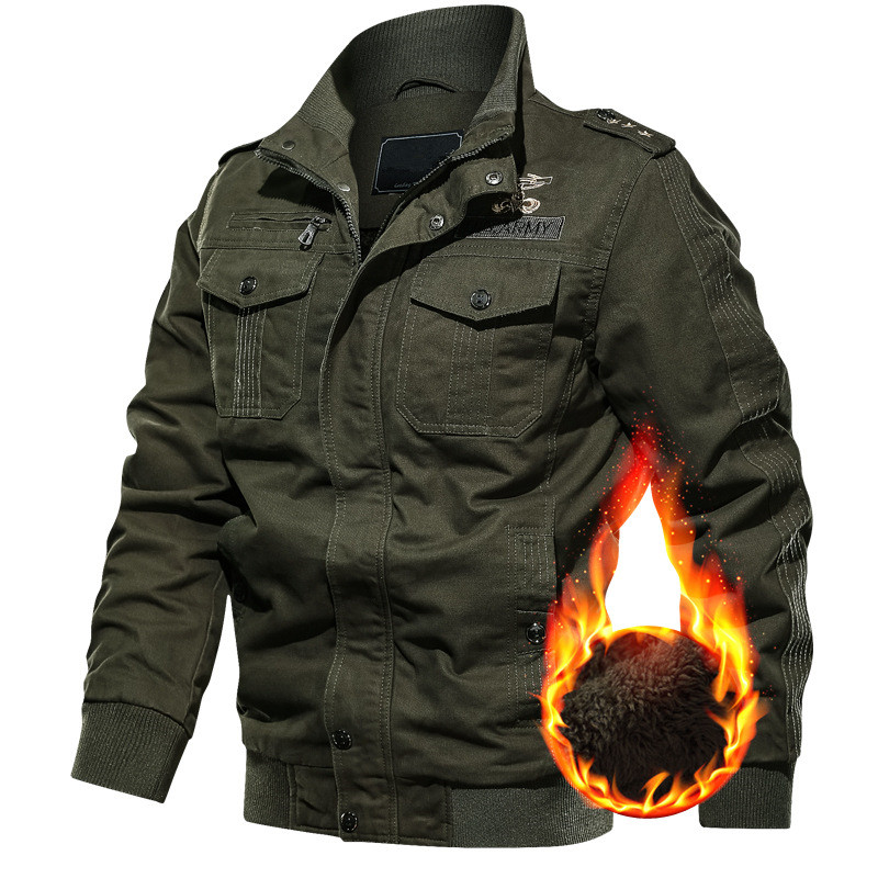 Men's Winter Fleece Jackets Warm Hooded Thermal Thick Outwear Coat Male Multi-pocket Military Jacket Parkas <font><b>Hombre</b></font> Plus Size <font><b>6XL</b></font> image
