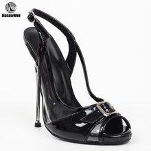 Сексуальные экстремальные металлические туфли jialuowei на высоком