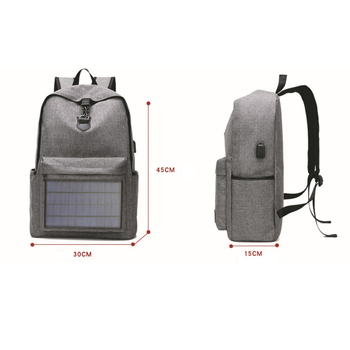 ABDB-Notebook Backpack Solar Backpack with Usb Charging Port Water Resistant Backpack for Hiking Camping Trekking Fishing 3