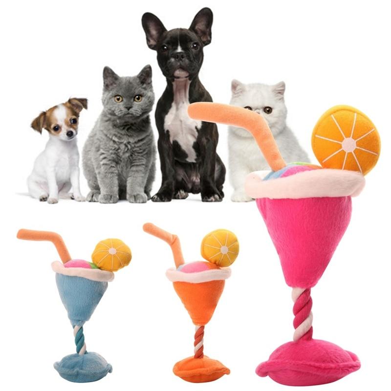 Игрушка для собак, плюшевое мороженое, звуковая игрушка, жевательные чистящие зубы, товары для собак