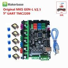 MKS GEN L V2.1 3D Makerbase original apoio mainboard controle cartão de reposição de impressora a4988 DRV8825 tmc2130 tmc2208 tmc2209 lv8729