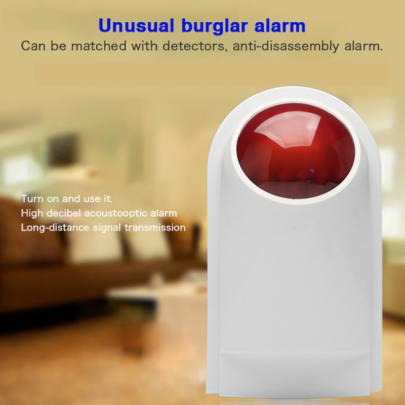 Wireless Sound And Light Outdoor Alarm Whistle 200 M-300 M Receiving Distance 120 DB Alarm Volume