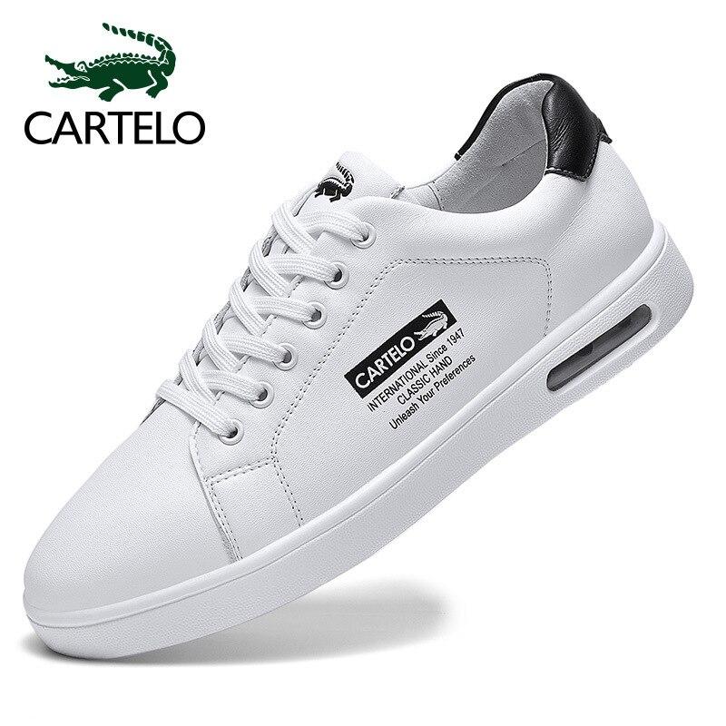 CARTELO MEN'S SHOES Versatile Casual Board Shoes Trendy Shoes White Shoes 2020 New Style Breathable Sports Footwear Men's
