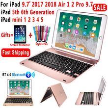 Teclado inteligente Caso para Apple iPad 9.7 2018 2017 6th Geração 5th Air 1 2 Air1 Air2 5 6 Pro 9.7 A1893 A1954 A1822 Mini 2 3 4 5