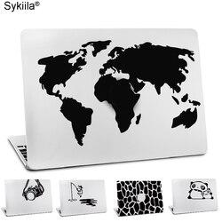 Наклейка для Macbook Air 11 12 13 Pro 13 15 16 17 виниловая наклейка на стену для ноутбука черная наклейка карта мира земная камера Горный Лев Noteboo