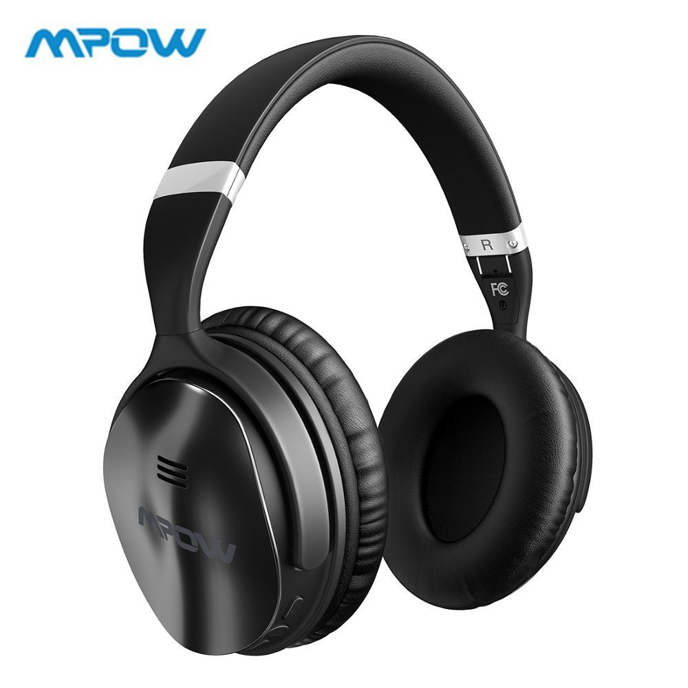 Mpow H5 Atualizada Música Fones de Ouvido Sem Fio fone de Ouvido Fones De Ouvido com Cancelamento de Ruído Ativo Fones De Ouvido fone de ouvido Dobrável