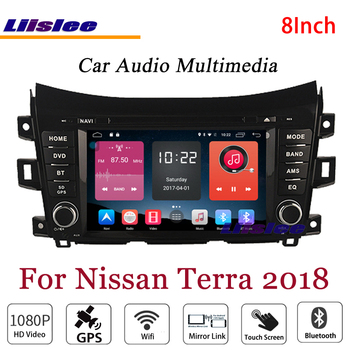 Liislee For Nissan Terra 2018 Stereo Android Radio BT DVD Player GPS MAP Navigation 1080P HD Screen System Original NAVI Design image