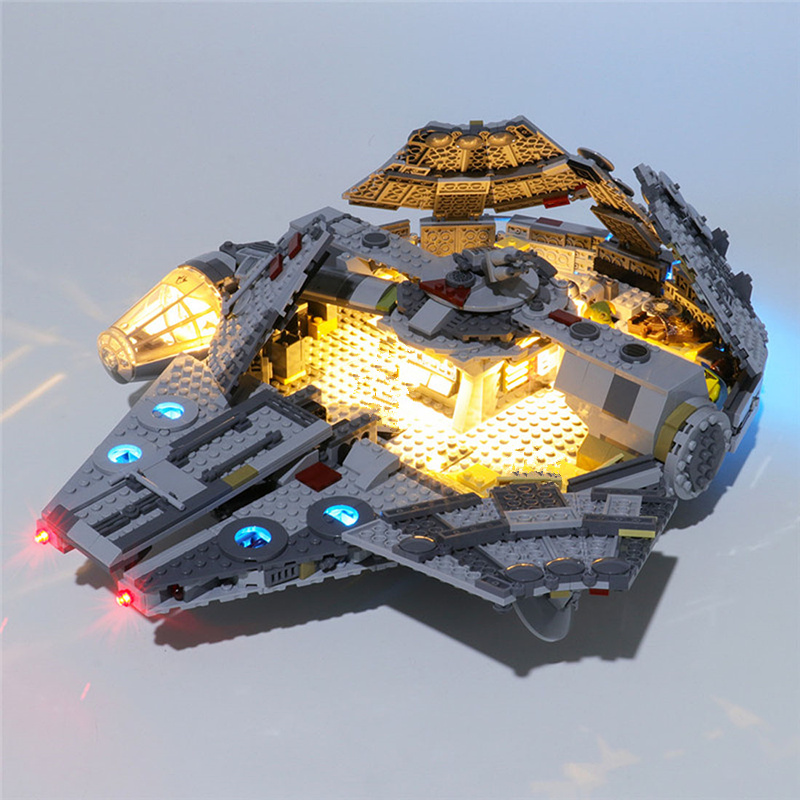 Usb Powered Building Blocks Led Lighting Kit For Star Wars The Rise Of Skywalker Millennium Falcon 75257 Blocks Accessories Blocks Aliexpress