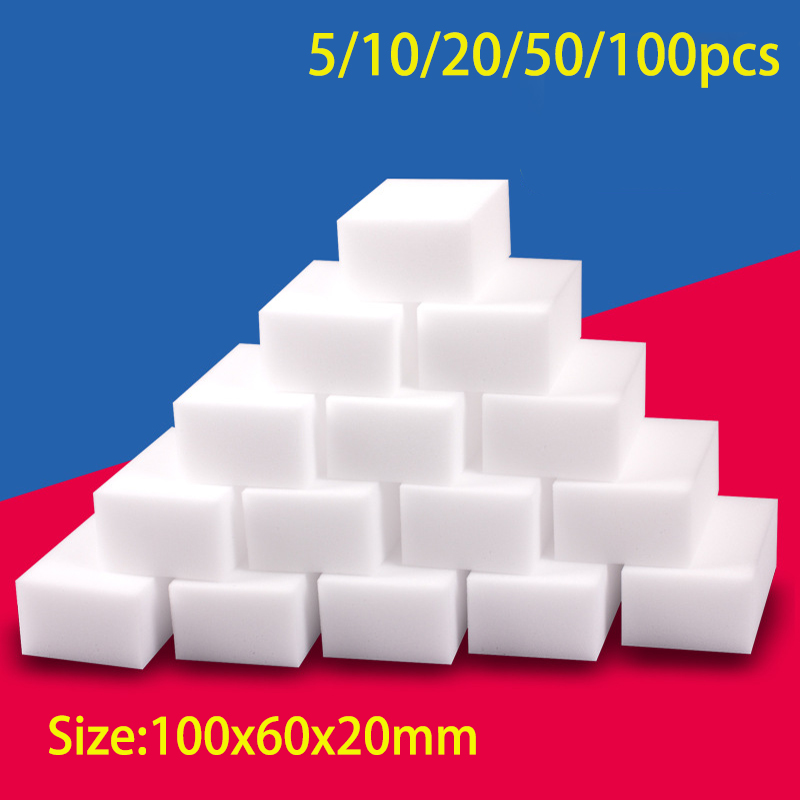 100 шт меламиновой губкой для очистки Волшебная меламиновая губка для очистки губки для Кухня инструменты для уборки ванной комнаты