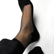 Sheer Transparent Socks Fetish Formal Dressing Socks Short