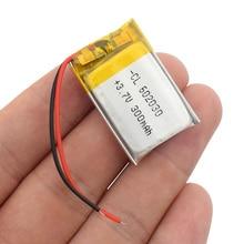 602030 мини Lipo перезаряжаемая литиевая батарея 300mAh 3,7 V Bluetooth MP3 Беспроводная карта аудио рекордер литий-ионные батареи