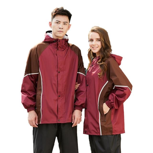 Adult Nylon Raincoat Motorcycle Rain Pants Split Thicken Men Rain Coat Women Waterproof Jacket Mens Sports Suits Birthday Gift